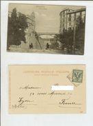 Genova: Piazza Manin. Cartolina Fp Vg All'estero 1901 (carrozza, Animata) - Genova (Genoa)
