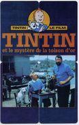 Puzzle TINTIN Et La Mystère De La Toison D'or- Fiim Movie BD - 4 Télécartes Canada Phonecard - Canada