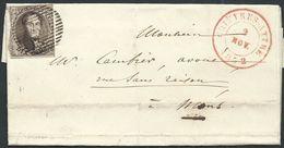 L Affr. N°6 P167 CHIEVRES-ATTRE/1852 Pour Mons - 1851-1857 Medallions (6/8)