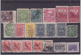 #8249 Austria Lot Of 20 Old Stamps Used: Mostly Different Perfins - Perforiert/Gezähnt