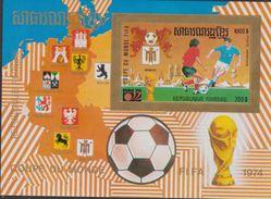CAMBODGE  KHMERE  IMPERF.  FIFA 1974  MUNICH   **MNH   VF  Réf  H842 - Coppa Del Mondo
