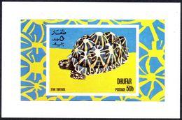 South Arabia Dhufar 1972 Star Tortoise Schildkröte Turtle Nice M/S XF/S (Extremely Fine/Superb) Full Gum Mnh - Tortugas