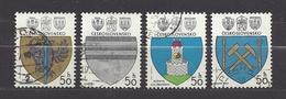 Czechoslovakia Tschechoslowakei 1980 Gest Mi 2552-2555 Sc 2297-2300 Coat Of Arms, Städtewappen C2 - Czechoslovakia