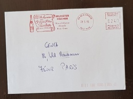 "FRANCE Vigne Et Vin, Alcool. BEBLENHEIM, EMA Rouge "" Munster Fischer Vins D'alsace, Alcools, Foie Gras "" ""1995 - Vins & Alcools"
