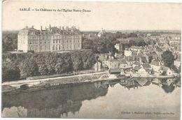 Sable Sur Sarthe Le Chateau Vu De L'eglise Notre Dame Circulee En 1918 - Sable Sur Sarthe