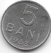 Romania 5 Bani 1963  Km 89    Xf+ - Roumanie
