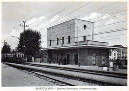 MARIGLIANO - STAZIONE FERROVIARIA CIRCUMVESUVIANA - NAPOLI - VIAGGIATA - Napoli (Nepel)