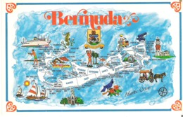 Map Of Bermuda  Twenty-two Square Miles Of Sun, Shore And Pink Coral Sands - Maps
