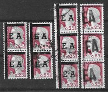 """ALGERIE :  Lot De Surcharges """"EA"""" .. TB - Algeria (1962-...)"""