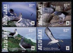 Aitutaki 2016 - Faune En Danger, Wwf, Oiseaux - 4 Val Se Tenant Du Feuillet Neufs // Mnh - Unused Stamps