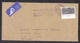 Venda: Airmail Cover Sibasa To Netherlands, 1990, 1 Stamp, Snake, Animal, Rare Real Use (fingerprint, Air Label Damaged) - Venda