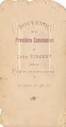 """Image Religieuse De Communion """" Jean VINCENT """" Faite En L' église De Saint André à LA CHATRE 1911 ( Recto Verso ) - Devotion Images"""