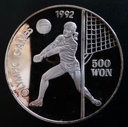 """NORTH KOREA 500 WON 1991 SILVER PROOF """"Olympic Games 1992""""  Free Shipping Via Registered Air Mail - Korea, North"""