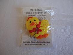 Gold Bunny - Copri Chiave Pulcino - Gadgets Uovo Di Pasqua - Lindt - 2010 - Kinder & Diddl