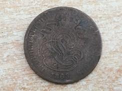 1863 Belgium 2 Deux Cents - F Fine Worn - 02. 2 Centimes