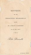 """Image Religieuse De Communion 1937 """" Rita BIASUTTI  """" Faite En L'église D' ASNIERES LES BOURGES  ( Imprimerie Auxenfans - Devotion Images"""