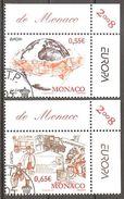 Monaco 2008 Europa Cept Michel 2890-91 Used Oblitéré Gestempelt Cancelled Oo - Europa-CEPT