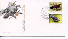 PAPUA NEW GUINEA -  1977 FAUNA CONSERVATION  -  BIRDS    FDC1208 - Papua New Guinea