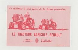 BUVARD TRACTEUR AGRICOLE RENAULT - Agriculture