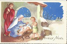 JOYEUX NOEL WEIHNACHTEN CHRISTMAS  ILLUSTRATEUR LAGARDE CRECHE  ENFANT KINDER - Noël