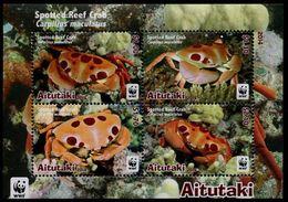 Aitutaki 2014 - Faune En Danger, Wwf, Crabe Des Récifs - BF Neufs // Mnh - W.W.F.