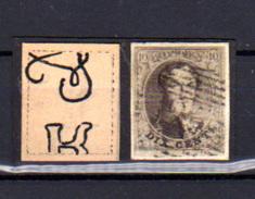 1851  Médaillon,  6 Ob (lettre En Filigramme), 4 Marges),  Cote 20 €, - 1851-1857 Medallions (6/8)