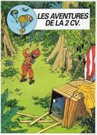 TINTIN Les Aventures De La 2 CV Brochure Publicitaire Citroen 8 Pages 1985 Publicité 2CV Format 21x27 état Superbe - Tim Und Struppi