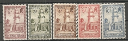 C  SOMALIS - Yv. N° 148 à 152 * 2c à 10c  Mosquée  Cote  1 Euro BE 2 Scans - French Somali Coast (1894-1967)