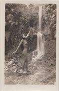 CPA PHOTO TAHITI Nude Nu Artistique Vahiné à La Cascade Rare - Tahiti