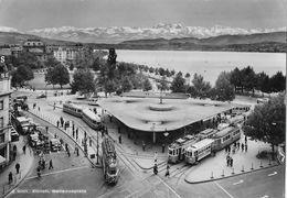 ZÜRICH → Bellevueplatz Mit Unzähligen Trams Anno 1965 - ZH Zurich