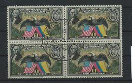 EC - 1938  - 401 VIERERBLOCK SAUBER GESTEMPELT - USED - 1 - Ecuador