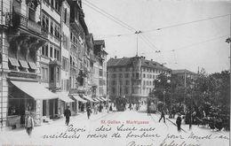 ST.GALLEN → Marktgasse Mit Vielen Passanten Und Trams Anno 1903 - SG St. Gallen