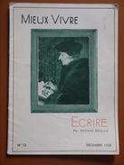 ECRIRE   MIEUX VIVRE BESSON       DECEMBRE 1938 - Autres