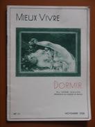 DORMIR    MIEUX VIVRE    WALLON  NOVEMBRE 1938 - Sciences