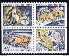 SWEDEN 1987 Christmas MNH / **.  Michel 1457-60 - Unused Stamps