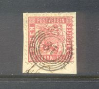 Germay Baden : 3 Kreuzer With Numbercancel 37 - Bade