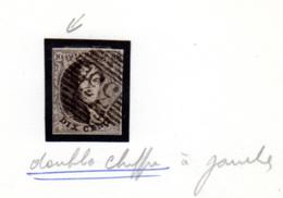 1851  Médaillon,  10 (poste 33) , Cote 12 €, - 1858-1862 Medaillen (9/12)