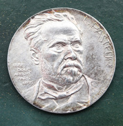 """Très Beau Jeton Argent 1er Titre """"Louis Pasteur / Dole - Arbois - Paris"""" Grav. J.H. Coeffin - Euros Of The Cities"""