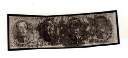1851  Médaillon,  10 En Bande De 4, Cote 200 €, - 1858-1862 Médaillons (9/12)