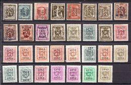 Belgium 31 Precancelled Stamps - Precancels