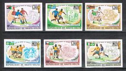 HAUTE-VOLTA  N°329 A 331 Et AERIEN N°180 A 182 N** Variété Timbres  Non Dentelé, FOOTBALL - Opper-Volta (1958-1984)