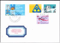 Schweiz Switzerland Suisse - Jahresereignisse (MiNr: 975/8) 1972 - FDC - FDC