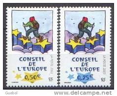 France - Timbre De Service N° 126 Et 127 ** Conseil De L'Europe 2003 - Oeuvre Du Dessinateur UNGERER - Neufs