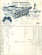 FABRIQUE DE BRODERIES.GUIPURES SOIE & COTON.G.DROUSSAINT & F.CROY 19 RUE DU SENTIER.PARIS.USINE A NANTERRE. - Textile & Clothing