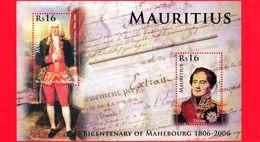 Nuovo - MNH - MAURITIUS - 2006 - 200 Anni Della Città Di Mahebourg - Foglietto - 16 + 16 - Mauritius (1968-...)