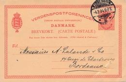 Danemark Copenhagen Entier Repique 10 Ore Pour La France - Interi Postali