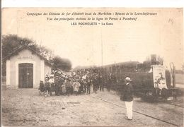 Cpa 44 Les Rochelets La Gare Ligne Pornic Paimboeuf Grosse Animation A Voir Train Carte Rare - Other Municipalities