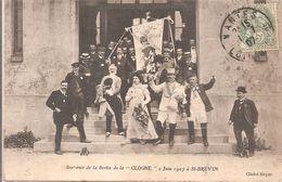 """Cpa 44 Souvenir De La Sortie De La """"cloche"""" 2 Juin 1907 à Saint Brévin Grosse Animation Rare - Saint-Brevin-les-Pins"""