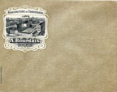 ENVELOPPE AVEC PUBLICITE  MANUFACTURE DE CHAUSSURES A. BOURDAIS TOURS - Publicités