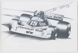 CPM - Renault RS01 1977 - Grand Prix De L'Age D'Or - Montlhéry 2002 - Autographe Alain Serpaggi - Cartes Postales